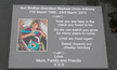 Photo Inset into Stone-Like Memorial Plaques   The Sign Maker Shop